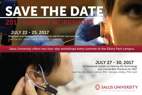 Audiology Summer Workshops at Salus University