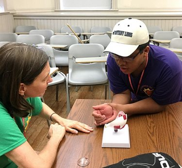 Salus Participates in First Jr. Summer Academy for Visually Impaired