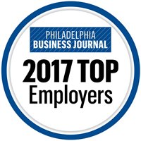 The Philadelphia Business Journal's list of the largest employers in the Philadelphia region ranks over 150 companies by their local employment – many of these companies, Salus University included, are hiring and growing.