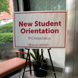 New Student Orientation sign