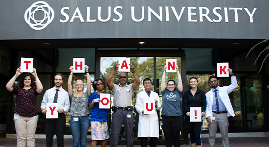 Giving Back to Salus University