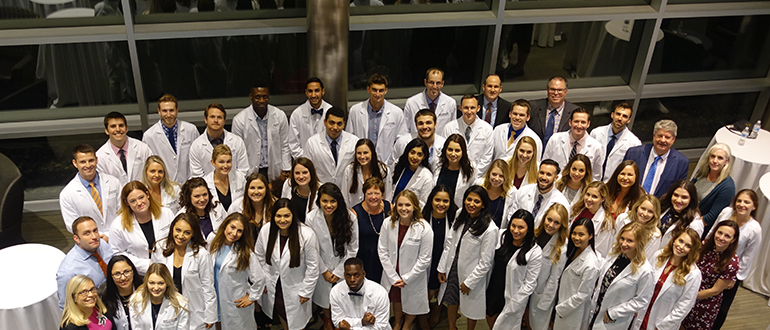 Physician Assistant Long White Coat Group Photo