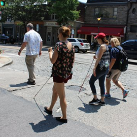 Navigating Their World: Orientation and Mobility Students Practice Hands-On Training