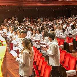White Coat Ceremony: A Sea of White Starts the Road to a Profession Journey