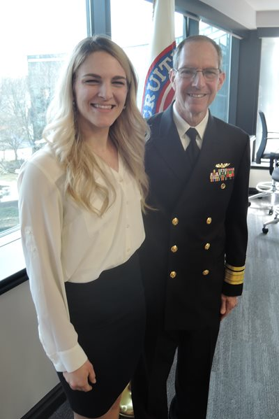 Payton Burke and Dr. Michael Mittelman