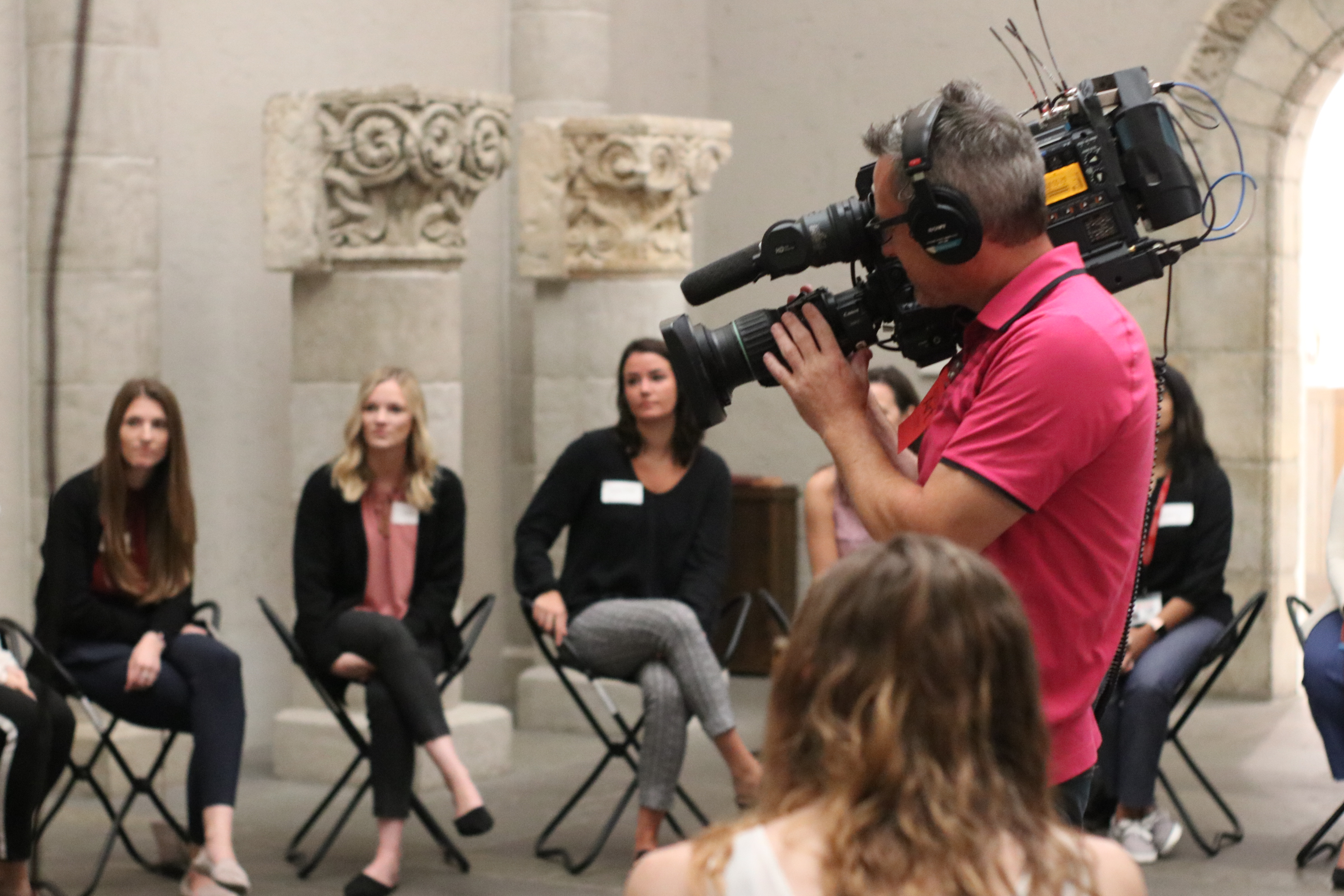 NBC10 at Art Museum with Salus PA Students