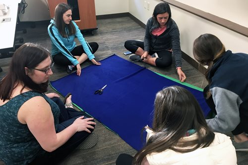 Salus Students Create Busy Blankets